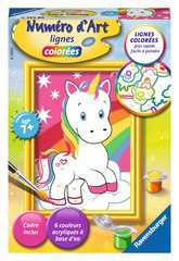 Numéro d'art - mini - Adorable licorne - Image 1 - Cliquer pour agrandir