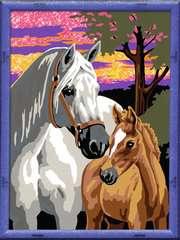 Numéro d'art - moyen - Chevaux au coucher de soleil - Image 2 - Cliquer pour agrandir