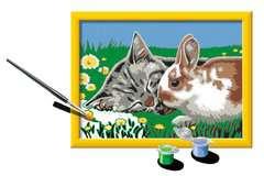 Numéro d'art - petit - Chaton et son compagnon le lapin - Image 3 - Cliquer pour agrandir