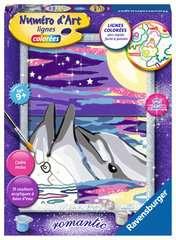 Numéro d'art - moyen - Dauphins au clair de lune - Image 1 - Cliquer pour agrandir