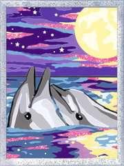 Numéro d'art - moyen - Dauphins au clair de lune - Image 2 - Cliquer pour agrandir