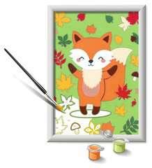 Numéro d'art - petit - Renard - Image 3 - Cliquer pour agrandir