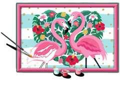 Numéro d'art - grand - Flamingos amoureux - Image 3 - Cliquer pour agrandir