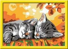 Numéro d'art - petit - Deux chatons couchés - Image 2 - Cliquer pour agrandir
