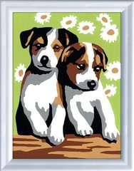 Numéro d'art - mini - Deux petits chiots - Image 2 - Cliquer pour agrandir