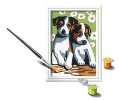 Numéro d'art - mini - Deux petits chiots - Image 3 - Cliquer pour agrandir