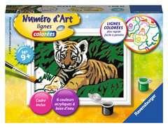 Numéro d'art - mini - Adorable tigre - Image 1 - Cliquer pour agrandir