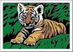 Numéro d'art - mini - Adorable tigre - Image 2 - Cliquer pour agrandir
