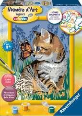 Numéro d'art - moyen - Chat et son compagnon le papillon - Image 1 - Cliquer pour agrandir
