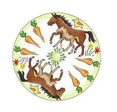 Mandala  - midi - Horses - Image 3 - Cliquer pour agrandir