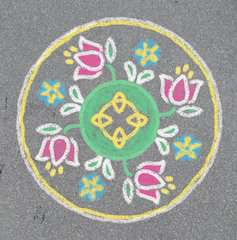 Outdoor Mandala- Designer® Flowers & Butterflies - image 11 - Click to Zoom