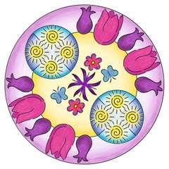 Mandala  - midi - Flowers & butterflies - Image 2 - Cliquer pour agrandir