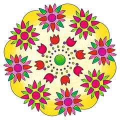 Mandala  - midi - Flowers & butterflies - Image 7 - Cliquer pour agrandir