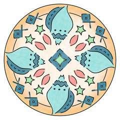 Mandala - mini - Vaiana - Image 2 - Cliquer pour agrandir