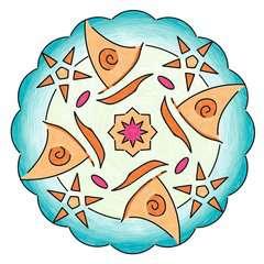 Mandala - mini - Vaiana - Image 6 - Cliquer pour agrandir