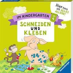 Im Kindergarten: Schneiden und Kleben - Bild 2 - Klicken zum Vergößern
