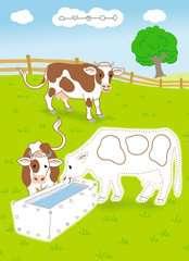 Rätselblock von Punkt zu Punkt: Auf dem Bauernhof - Bild 4 - Klicken zum Vergößern