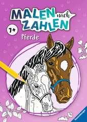 Malen nach Zahlen ab 7 Jahren: Pferde - Bild 1 - Klicken zum Vergößern