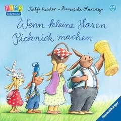 Wenn kleine Hasen Picknick machen - Bild 1 - Klicken zum Vergößern