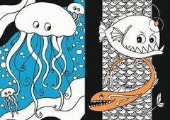 Mein Neon-Malbuch: Leuchtende Unterwasserwelt - Bild 4 - Klicken zum Vergößern