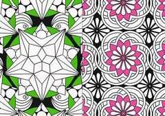 Mein Neon-Malbuch: Cooles Kaleidoskop - Bild 4 - Klicken zum Vergößern
