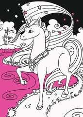 Mein Neon-Malbuch: Fantasietiere - Bild 5 - Klicken zum Vergößern