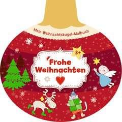 Mein Weihnachtskugel-Malbuch: Frohe Weihnachten - Bild 1 - Klicken zum Vergößern