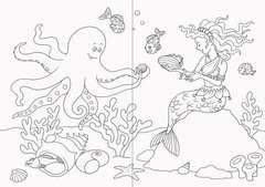 Mein zauberhaftes Malbuch: Feen, Elfen und Meerjungfrauen - Bild 3 - Klicken zum Vergößern