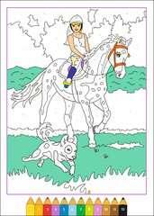 Malen nach Zahlen: Pferdeträume - Bild 4 - Klicken zum Vergößern