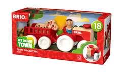 My Home Town Traktor mit Pferde-Anhänger - Bild 1 - Klicken zum Vergößern