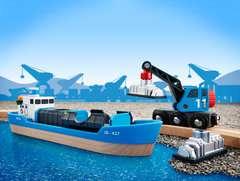 Containerschiff mit Kranwagen - Bild 5 - Klicken zum Vergößern