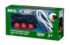Schwarze Akku-Lok mit Mini-USB - Bild 1 - Klicken zum Vergößern