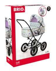 BRIO Puppenwagen Klassik, grau mit Punkten - Bild 1 - Klicken zum Vergößern
