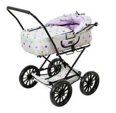 BRIO Puppenwagen Klassik, grau mit Punkten - Bild 3 - Klicken zum Vergößern