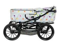 BRIO Puppenwagen Klassik, grau mit Punkten - Bild 4 - Klicken zum Vergößern