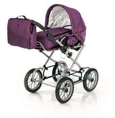 BRIO Puppenwagen Premium Combi, violett (incl. Tasche) - Bild 2 - Klicken zum Vergößern