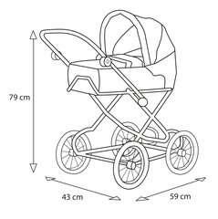 BRIO Puppenwagen Premium Combi, violett (incl. Tasche) - Bild 5 - Klicken zum Vergößern