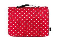 Wickeltasche rot mit Punkten - Bild 1 - Klicken zum Vergößern