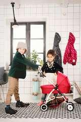Puppenwagen Spin rot - Bild 3 - Klicken zum Vergößern