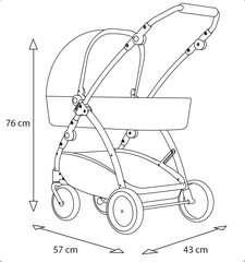 Puppenwagen Spin rot - Bild 7 - Klicken zum Vergößern