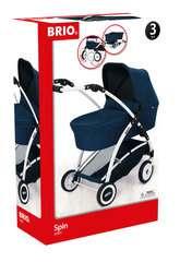 BRIO Puppenwagen Spin blau mit Schwenkrädern - Bild 1 - Klicken zum Vergößern