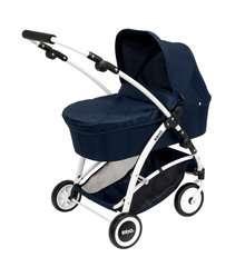 BRIO Puppenwagen Spin blau mit Schwenkrädern - Bild 2 - Klicken zum Vergößern
