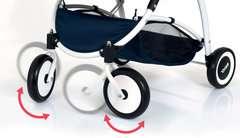 BRIO Puppenwagen Spin blau mit Schwenkrädern - Bild 3 - Klicken zum Vergößern