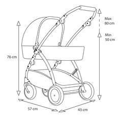 BRIO Puppenwagen Spin blau mit Schwenkrädern - Bild 11 - Klicken zum Vergößern
