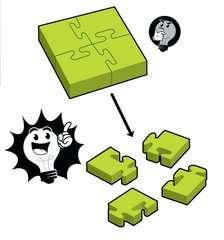 4-Piece Jigsaw - Bild 7 - Klicken zum Vergößern