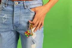 Rubik's Cube Schlüsselanhänger - Bild 10 - Klicken zum Vergößern