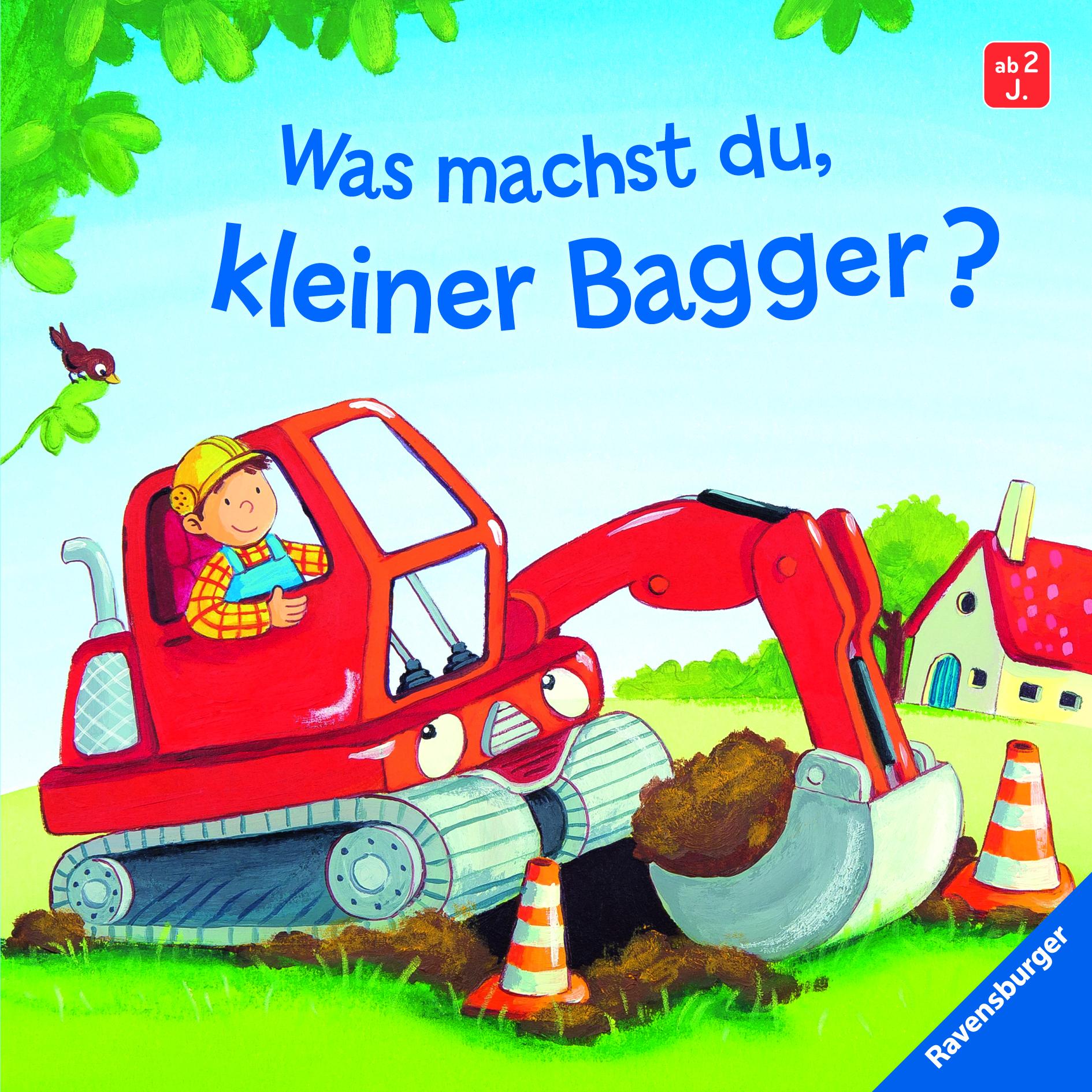 was machst du, kleiner bagger? | babybücher und pappbilderbücher