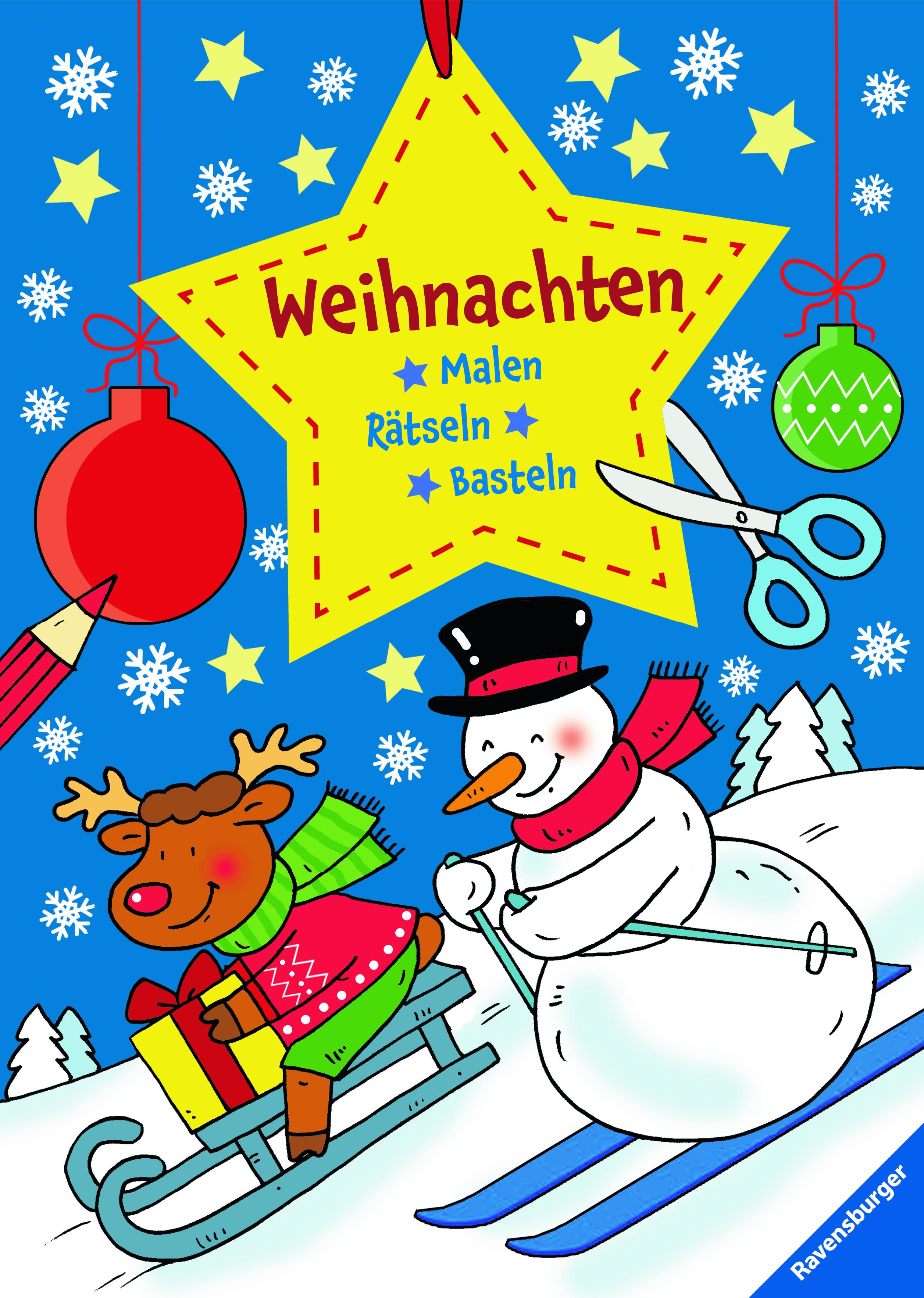 Malen - Rätseln - Basteln: Weihnachten | Malbücher und Bastelbücher ...