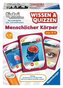 00753 tiptoi® Spiele tiptoi® Wissen & Quizzen: Menschlicher Körper von Ravensburger 1