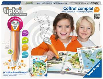 tiptoi® - Coffret complet lecteur interactif + Livre Atlas tiptoi®;Livres tiptoi® - Image 1 - Ravensburger